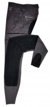 HKM Reithose -Finnland- Vollbesatz grau/schwarz